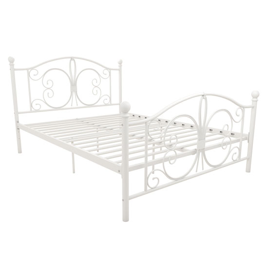 Bombay Metal Double Bed In White_3