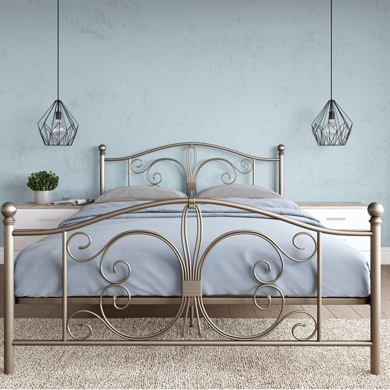 Bombay Metal King Size Bed In Bronze