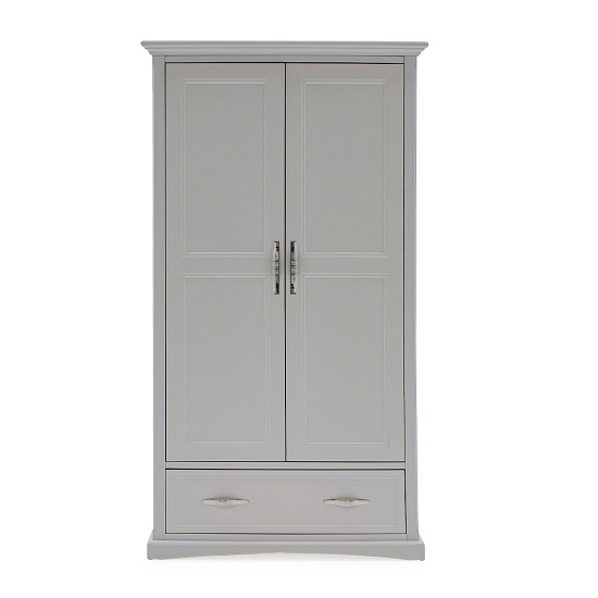 Boody Wooden Wardrobe In Grey Pained With Two Doors