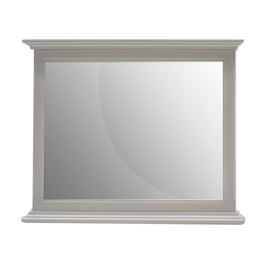 Boody Wooden Bedroom Mirror In Grey Pained Finish