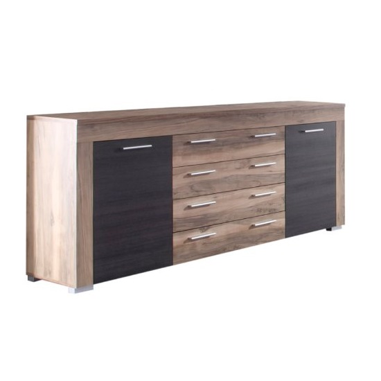 boom sideboard in walnut satin and dark brown touchwood. Black Bedroom Furniture Sets. Home Design Ideas