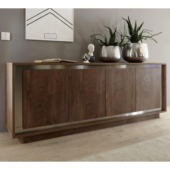 View Borden wooden sideboard in cognac oak
