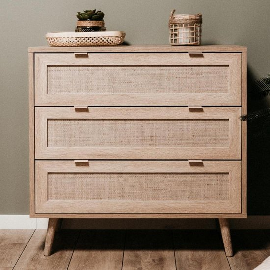 Borox Chest Of Drawers In Sonoma Oak And Bast Look