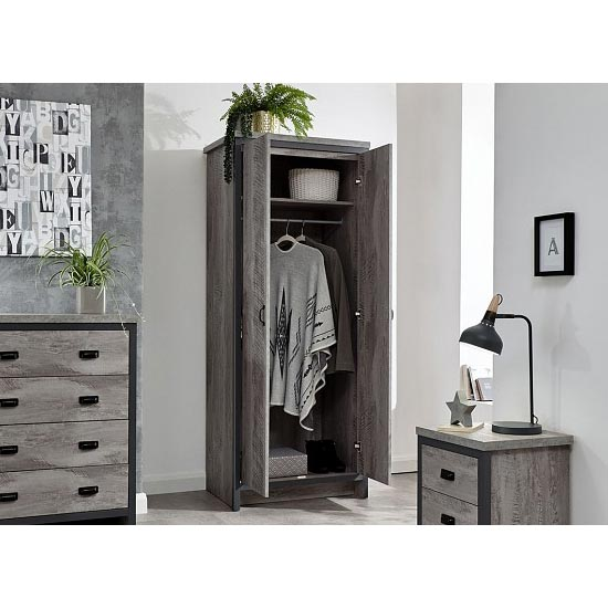 Boston Wooden 3Pc Bedroom Furniture Set In Grey_2