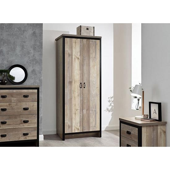 Boston Wooden 3Pc Bedroom Furniture Set In Oak
