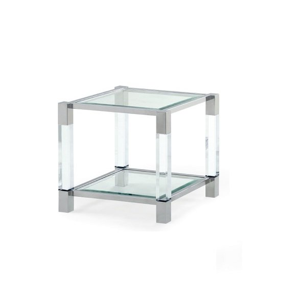 Boston End Table In Clear Glass And Polished Stainless : bostonendtable from www.furnitureinfashion.net size 550 x 550 jpeg 21kB