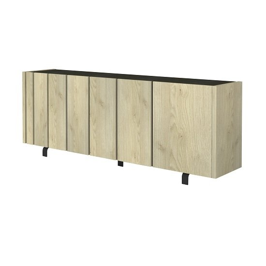 Boswell Wooden Sideboard In Oak Finish With Four Doors_5