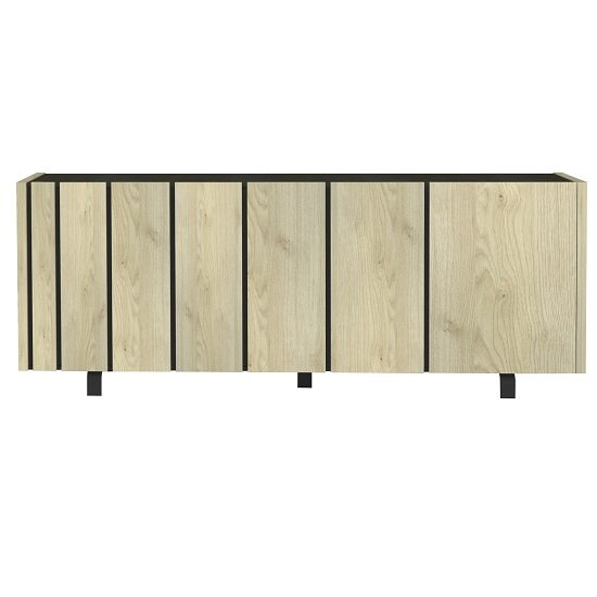 Boswell Wooden Sideboard In Oak Finish With Four Doors_3