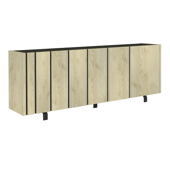 Boswell Wooden Sideboard In Oak Finish With Four Doors_2