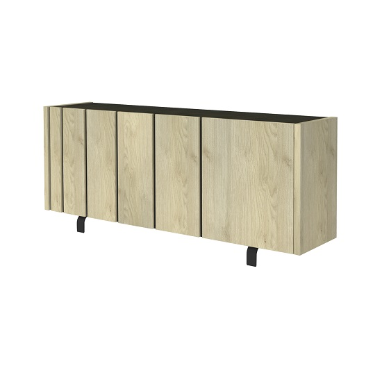 Boswell Wooden Sideboard In Oak Finish With Three Doors_4