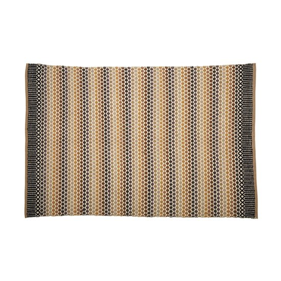 Botin Small Fabric Upholstered Inca Rug In Multi-Colour