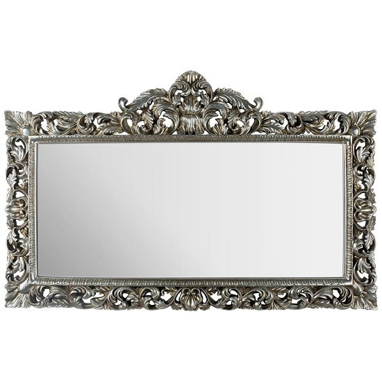 Boule Contemporary Rectangular Wall Mirror In Champagne
