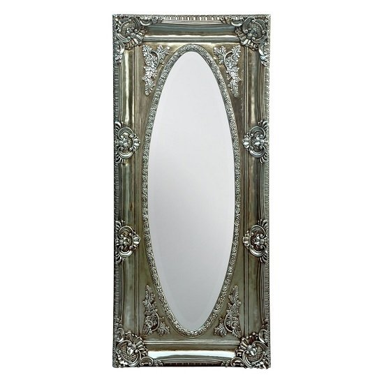 Boule Wall Mirror In Silver Distressed Finish