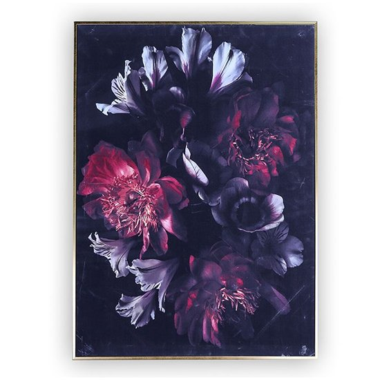 Bouquet Picture Canvas Wall Art In Multicolor