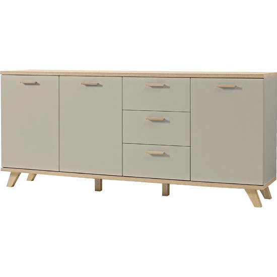 Bowen Large Sideboard In Stone Grey And Oak With 3 Doors_2