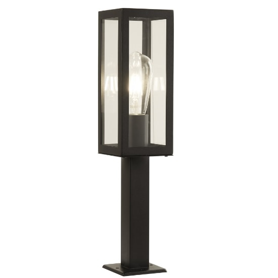 Box Outdoor 1 Light Head Post In Black
