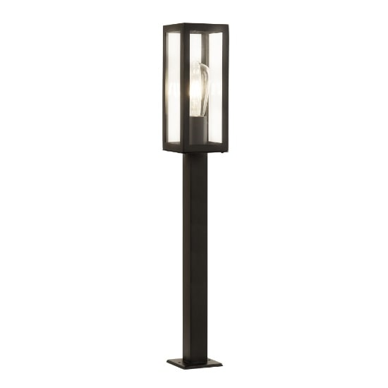 Box Outdoor 1 Light Tall Head Post In Black