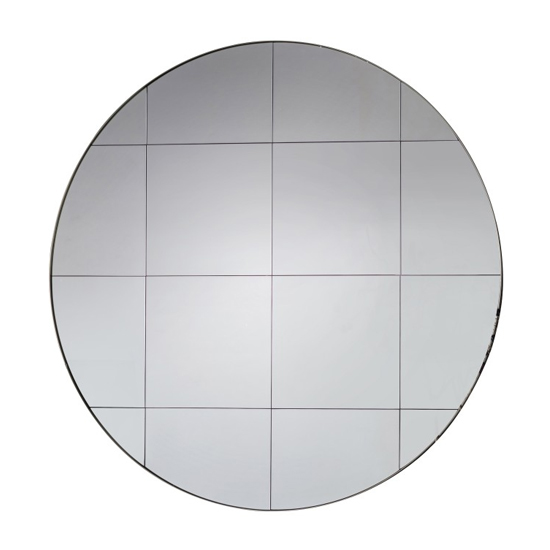 Boxley Round Wall Bedroom Mirror In Silver