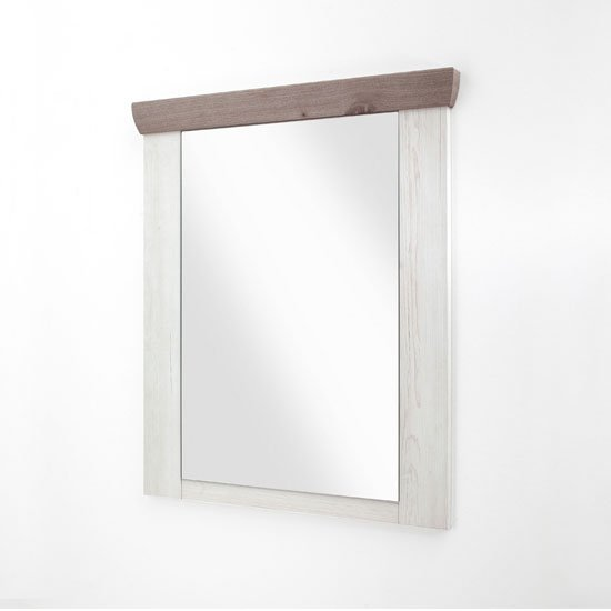 Bozen Wall Bedroom Mirror In Pine And White Frame