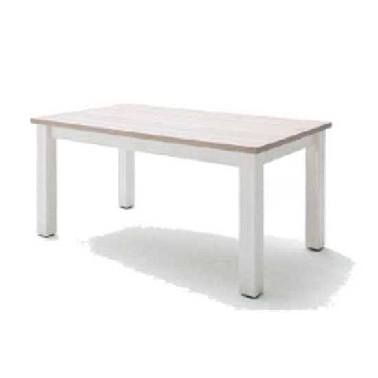 Bozen Wooden Dining Table In Pine And White