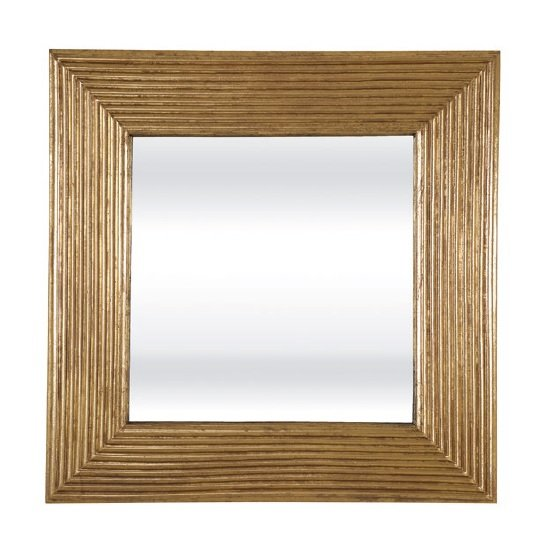 Bradbury Contemporary Wall Mirror Square In Gold