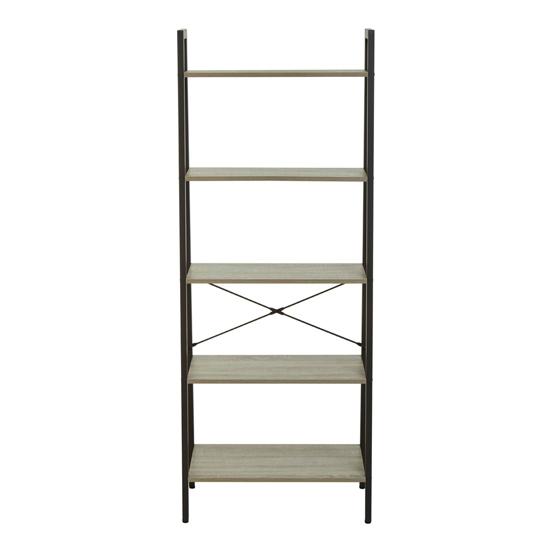 View Bradken 5 tier ladder shelving unit in grey oak