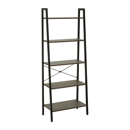 Bradken 5 Tier Ladder Home And Office Shelving Unit In Dark Oak