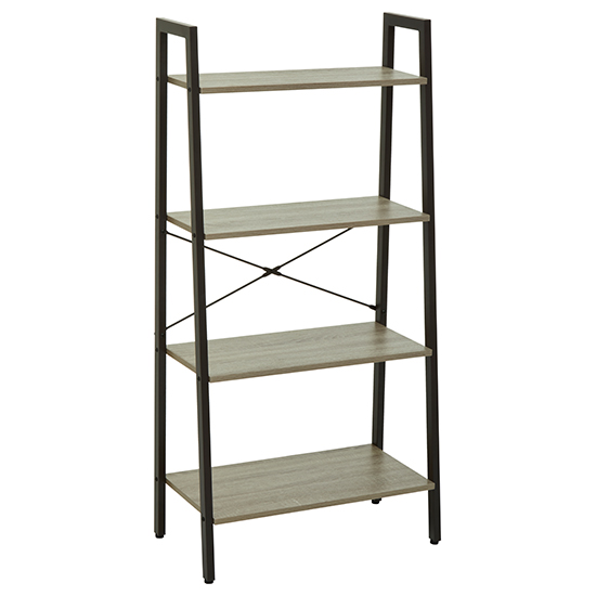 Bradken 4 Tier Home And Office Shelving Unit In Natural Oak