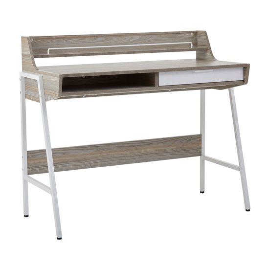 Bradken Wooden 1 Drawer Computer Desk In Light Oak