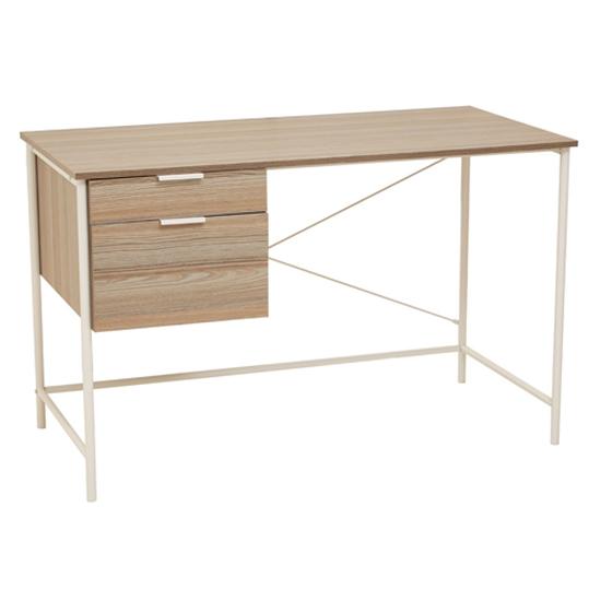 View Bradken wooden 2 drawers computer desk in light oak