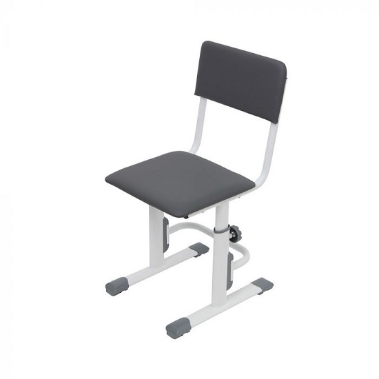 Braize Height Adjustable Study Chair In White And Grey