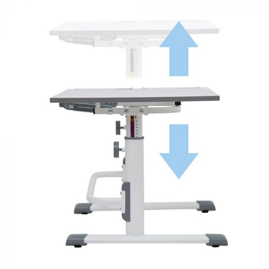 Braize Height Adjustable Study Desk In White And Grey_3