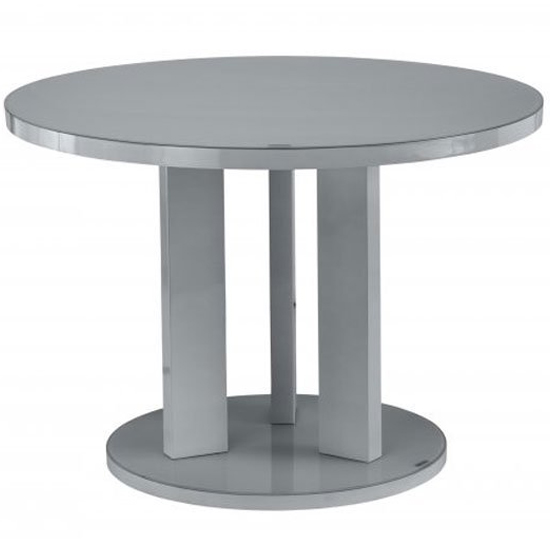 Brambly Grey Gloss Glass Dining Table And 4 Soho Grey Chairs_2