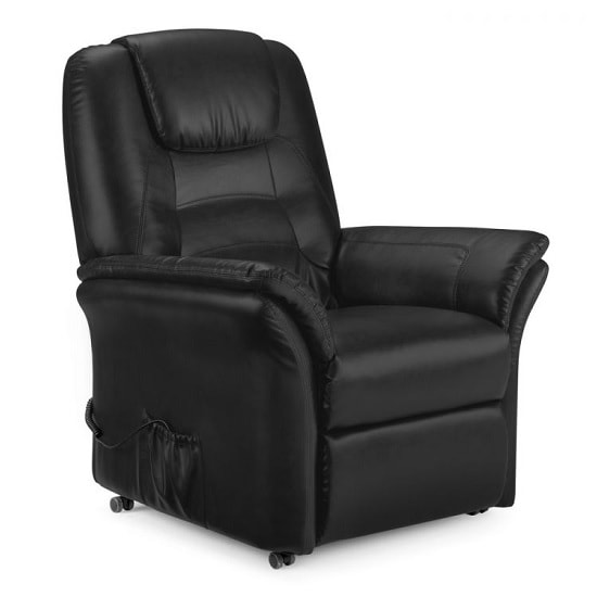 Brandon Modern Recliner Chair In Black Faux Leather