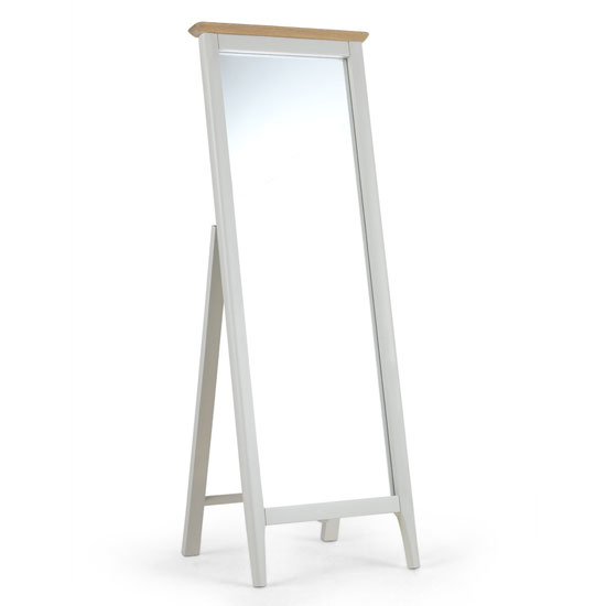 Brandy Cheval Mirror In Off White And Oak Frame