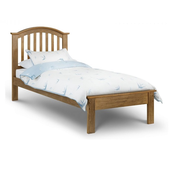 Brashear Wooden Single Size Bed In Light Oak Effect Finish