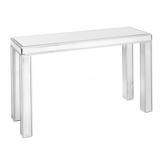 Breeze Mirrored Rectangular Console Table