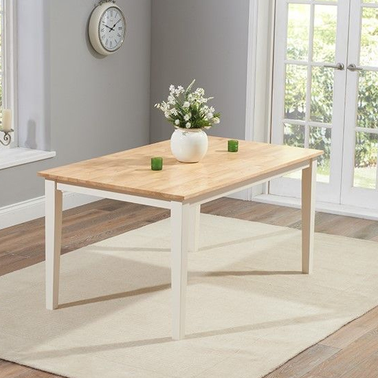 Bremen Oak And Cream Dining Set With 2 Chairs And 2 Large Bench_2