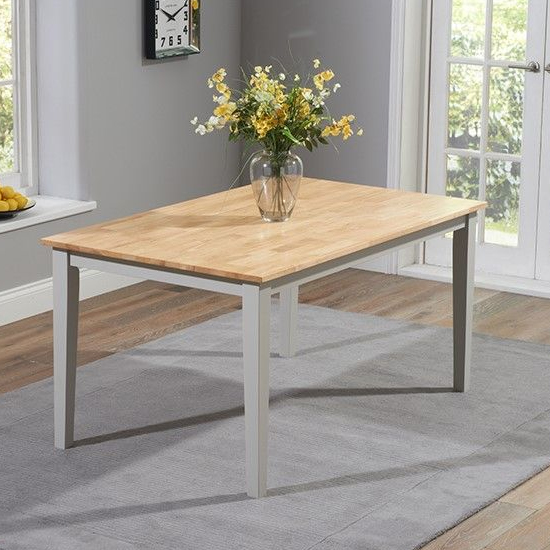 Bremen Oak And Grey Dining Set With 2 Chairs And 2 Large Bench_2