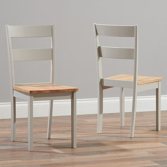 Bremen Oak And Grey Dining Set With 2 Chairs And 2 Large Bench_3