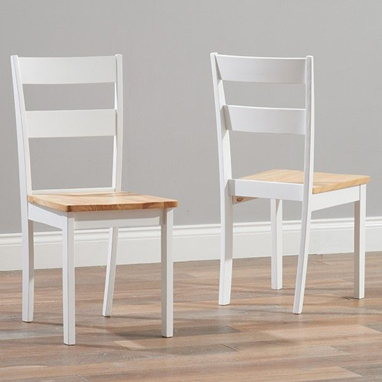 Bremen Oak And White Dining Set With 4 Chairs And 1 Large Bench_3