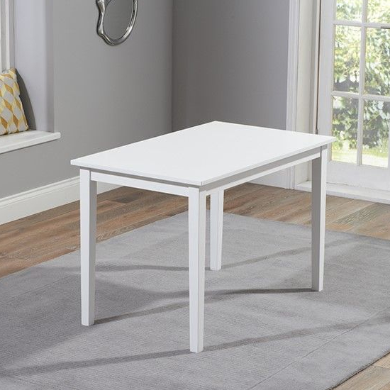 Bremen White Dining Set With 2 Benches_3