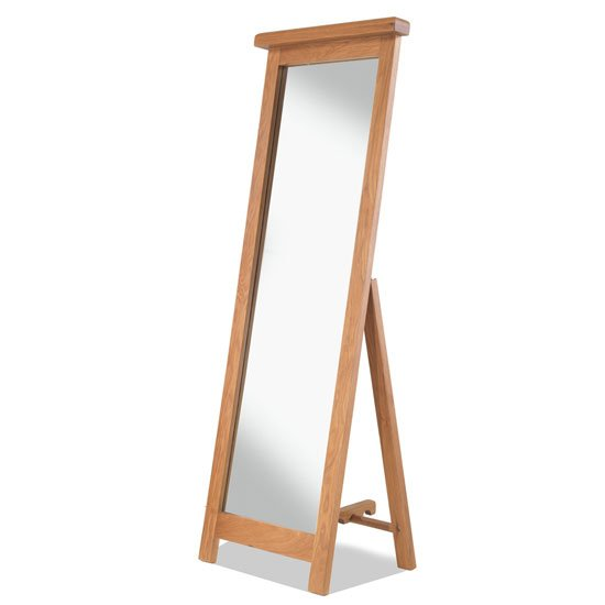 Brendan Cheval Mirror In Crafted Solid Oak Frame