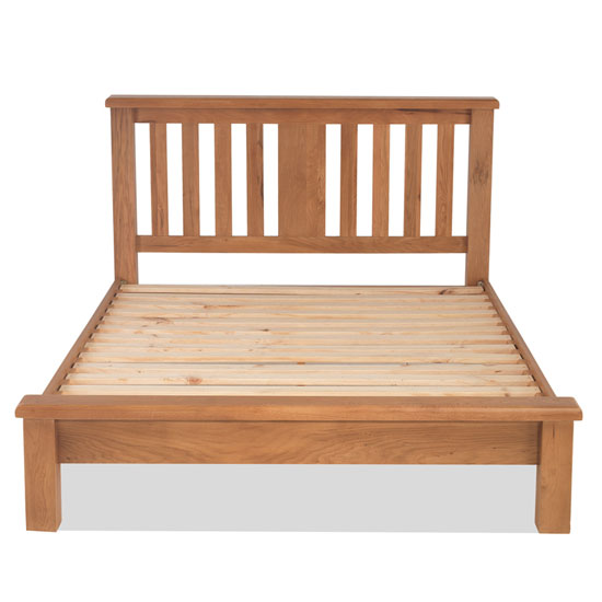 Brendan Wooden Double Low Foot Bed In Crafted Solid Oak