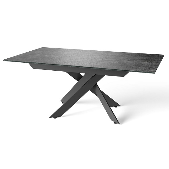 Brenden Extending Dining Table In Grey With Powder Coated Legs_2