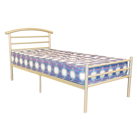 Brenington Metal Double Bed In Silver