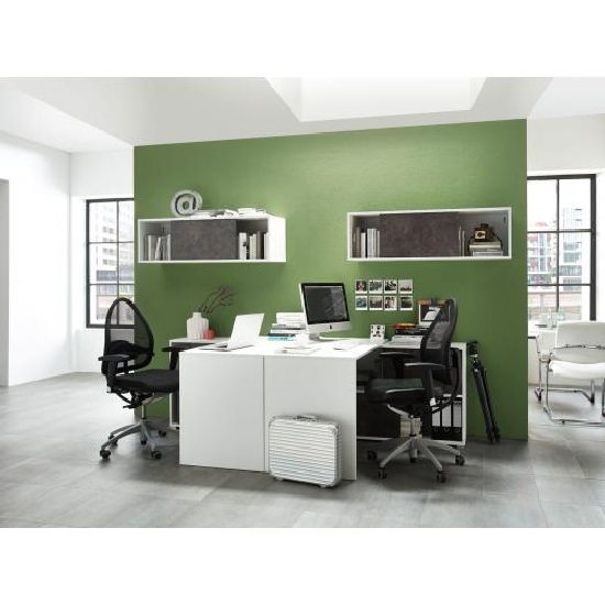 Brenta Corner Computer Desk In White And Basalto Dark_4