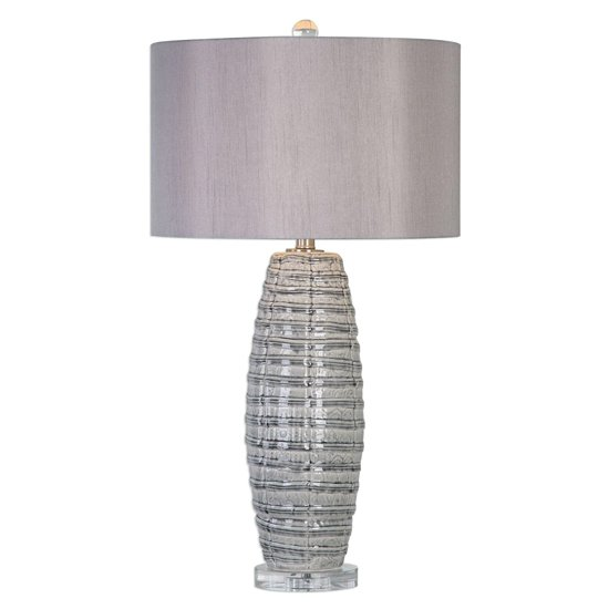 Brescia Table Lamp In Taupe Grey