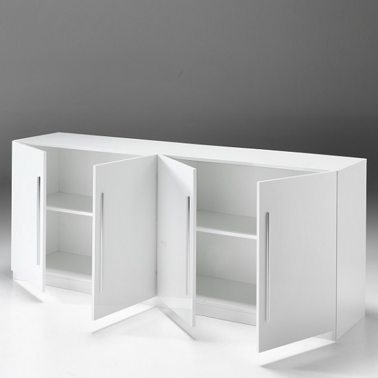 Breta Sideboard Large In White High Gloss With 4 Doors_2