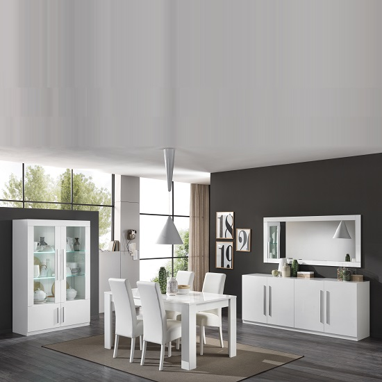 Breta Sideboard Large In White High Gloss With 4 Doors_3